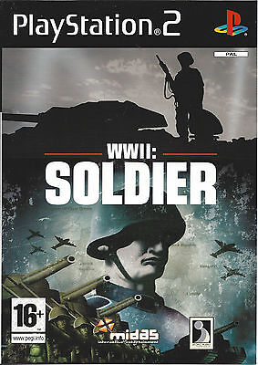 WWII SOLDIER for Playstation 2 PS2 - with box & manual - PAL