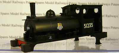 Hornby X3978 Pug Body BR Black Early Crest No: 51235.