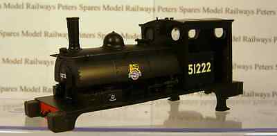 Hornby X8494 Pug Body BR Black Early Crest No: 51222