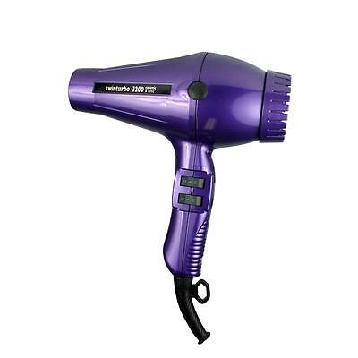 TWIN TURBO HAIR DRYER 3200 COMPACT CERAMIC IONIC -- Purple by Parlux TwinTurbo