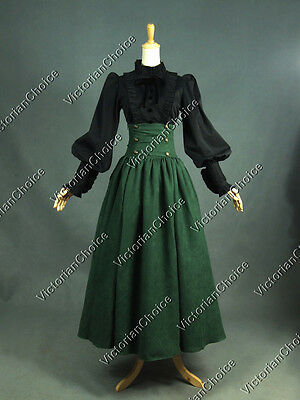 Edwardian Victorian Gothic 2PC Dress Steampunk Penny Dreadful Punk Clothing D187
