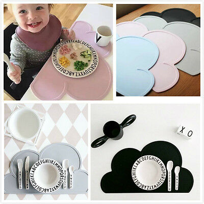 Baby Kids Pad Dining Table Mat Silicone Cloud Shape Insulation Kitchen Placemat