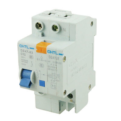 DZ47-63 1P+N 10A Breaking Capacity Overload Protection Circuit Breaker