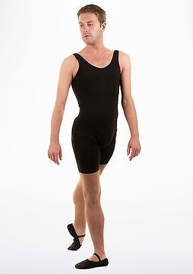 Black Freed men's sleeveless cycle length catsuit - style 6130 - all sizes