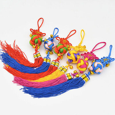 Tassel Chinese Knot Hang Decor Accent Colors Ball Pendant  Car Vehicle JYL