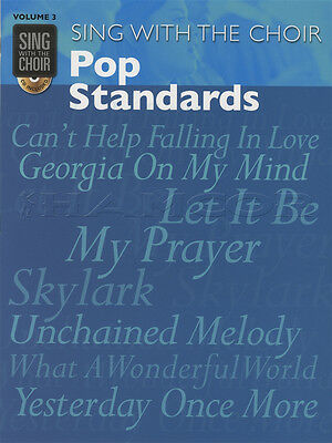 Sing with the Choir Pop Standards Vocal Sheet Music Book with CD Beatles Presley