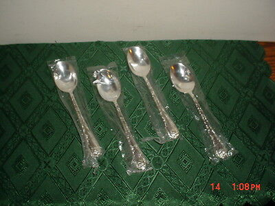 "4-Piece Wm Rogers & Sons ""silver Plate"" Large 7"" Dinner Spoons/new/clearance!"