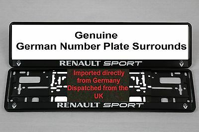 Renault Sport Number Plate Surrounds  X 2  Pair