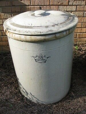 20 Gal Crock Robinson Ransbottom  Blue Crown/Lid FREE Pickup (or Ship Extra)