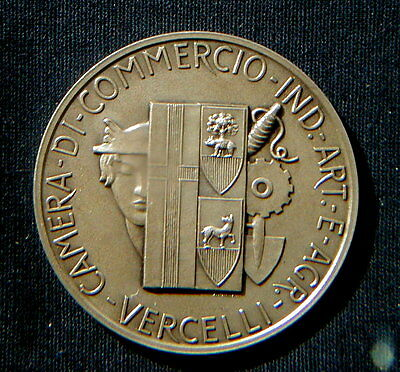 Italy silver medal VERCELLI Chamber of Commerce Industry Handicraft Agriculture