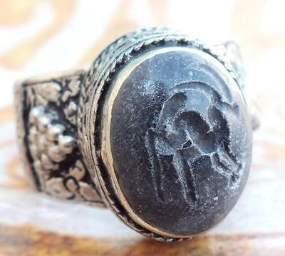 vintage ethnic Regional Bedouin Jewelry tribal middle eastern rings arabic sz 9