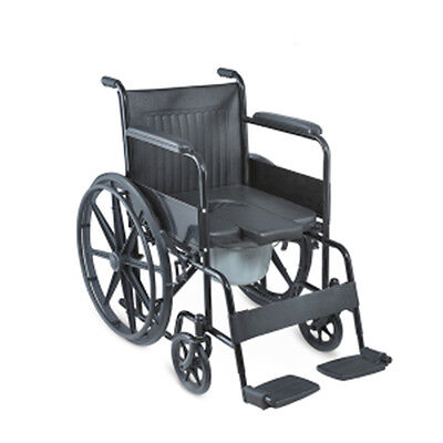 Heavy Duty Commode Wheelchair Shower Wheelchair and Self-Transporting Wheelchair