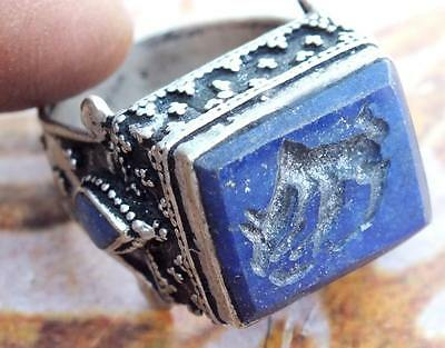 old ethnic Regional Bedouin Jewelry tribal middle eastern rings blue lapis
