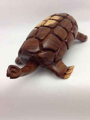 Hand Carved Wood Sea Turtle Long Neck