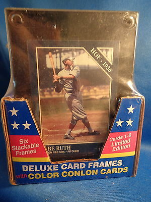 1992 CONLON BASEBALL - COLOR w/ FRAMES (1) PACK of (6) CARDS ! HALL of FAMERS !