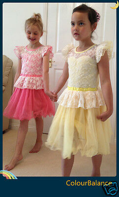 New Kids beautiful Party  Lace dresses for girls 2-7Yrs