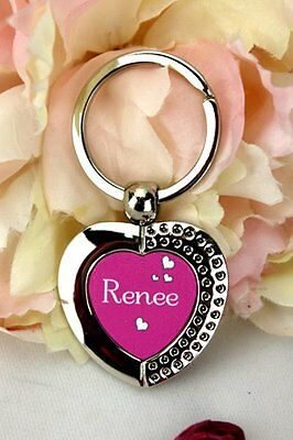 Personalised Heart Keyring Gift - Add Your Own Details