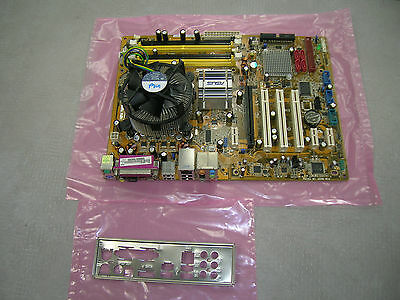 Asus P5B socket 775 motherboard with an Intel Core2 Duo E7400 2.8ghz CPU Combo