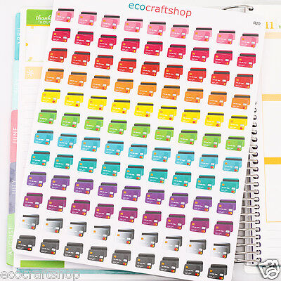 108 MONTHLY CREDIT CARD TO DO PAY DAY TIME ECLP Planner Sticker Erin Condren R20
