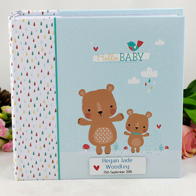 Baby Boy Photo Album - Personalised Gift - Add a Name & Message