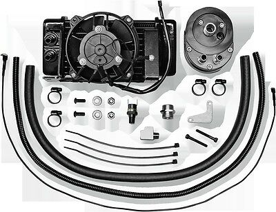 Horizontal Low-Mount 10 Row Fan-Assisted Oil Cooler Kit Black Jagg 751-FP2400