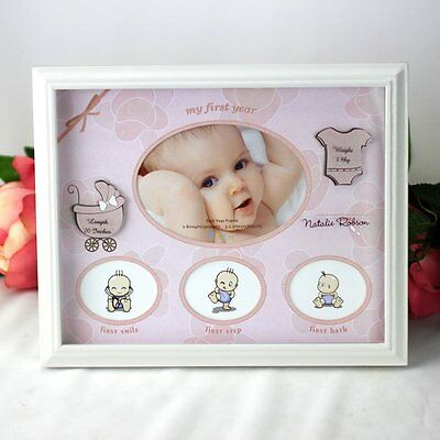 Baby Girl First Year Frame Gift | Newborn | Baby Shower | Keepsake