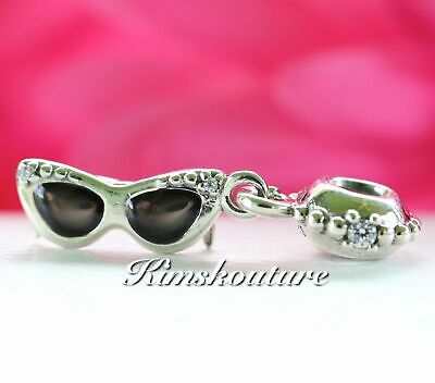 Authentic Pandora Sterling Silver Sunshine Diva Sunglasses Bead 791148CZ