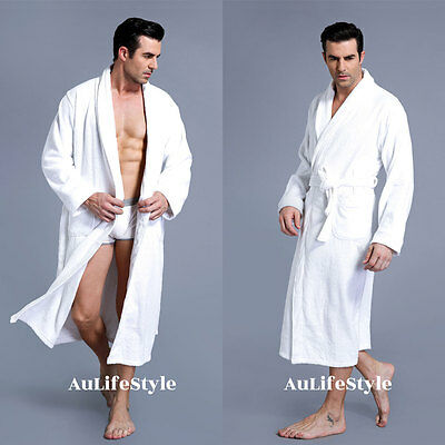 XXXL LUXURY 100% COTTON TERRY TOWELING BATH ROBE MEN AND WOMEN SOFT GOWN X Large