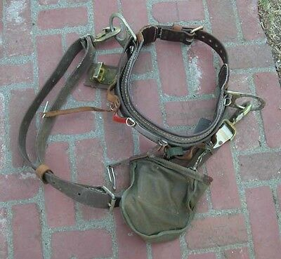 Lineman Belt & Lanyard 4 Pole Climbing Telephone Cable Electric Work Bell System