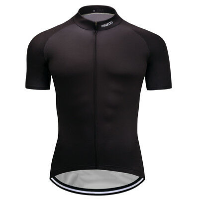 2016 New Mens Road Bike Team Clothing Short Sleeve Jerseys Riding Outfits Black