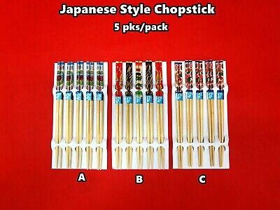 Japanese Style Bamboo Chopsticks 5 pairs (Two patterns available) (A102) NEW
