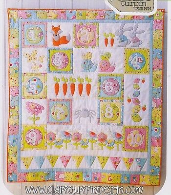 Count on Me - applique & pieced quilt PATTERN - Claire Turpin Designs
