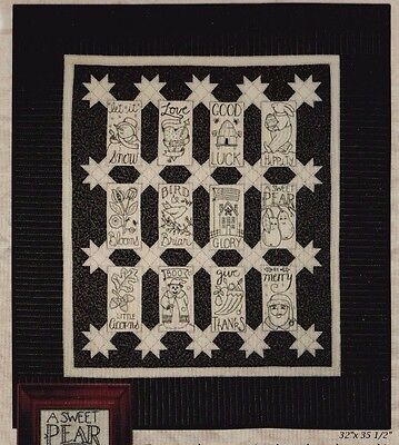 CLEARANCE - Simple Tidings - stitchery & pieced wall quilt PATTERN