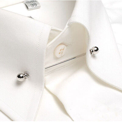 Fashion Shirt Collar Bar Men's Lapel Pin With Chain Collar Brooch Lot For Men
