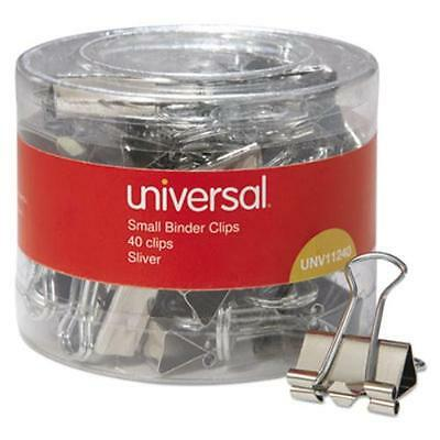"Universal Office Products 11240 Small Binder Clips, 3/8"" Capacity, 3/4"" Wide,"