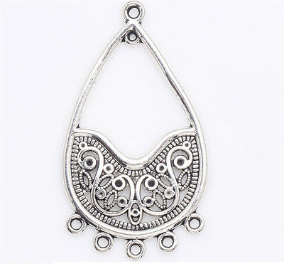 5/50 Pcs Tibetan silver Crafts Making Jewelry Drops Findings Earring DIY Charms