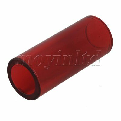 High Boron Glass Guitar String Slide Knuckle Tube  Red 28x20x67mm