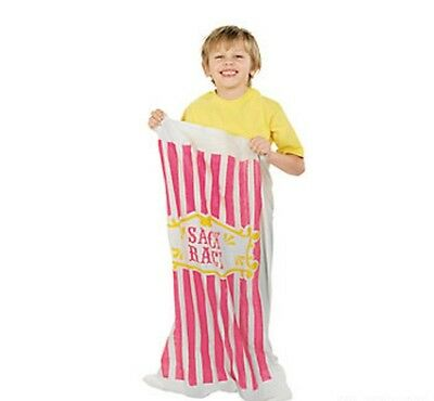 6 Carnival Circus Party Potato Sacks Bag Field Day Fun Race Game Toy New Child