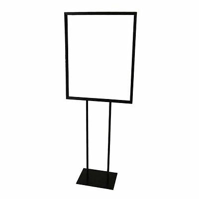 Double Side Black Bulletin Sign Holder Poster Sign Floor Sidewalk Stand 22 x 28