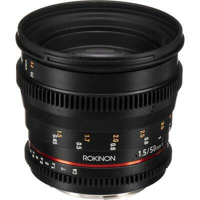 Rokinon 50mm T1.5 Cine DS Lens for Canon EF Mount #DS50M-C