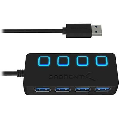 Sabrent 4-Port USB 3.0 Hub with Individual Power Switches and LEDs #HB-UM43