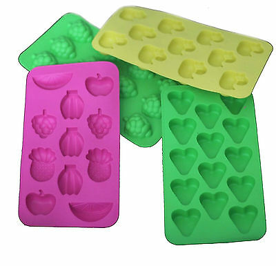 Silicon Ice Cube Tray Mould Fancy Different Funny Shape Ice Jelly Maker Tray