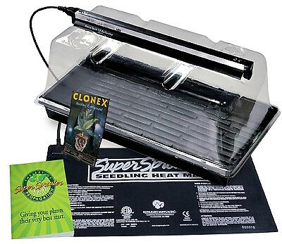 Super Sprouter Premium Propagation Kit with 7 in Dome & T5 Light