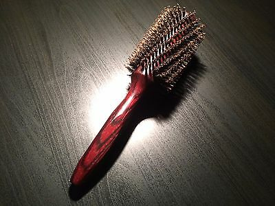 True Boar Bristle Hair Brush Round Barrel Styling Brush 1.77 inches