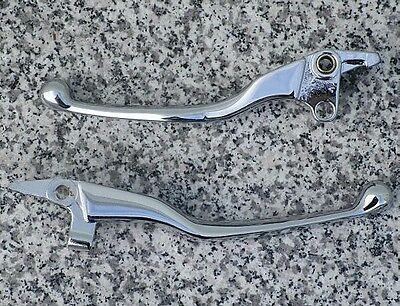 1996-2013 Yamaha Royal Star CHROME FRONT BRAKE & CLUTCH LEVERS