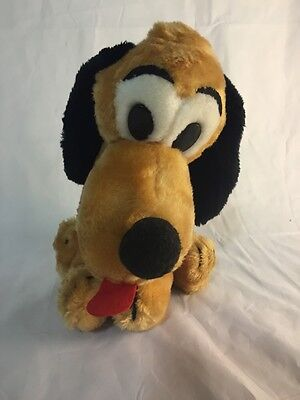 VINTAGE DISNEY DAKIN PLUSH PLUTO DOG 11' Walt Disney Productions (A686-V7)