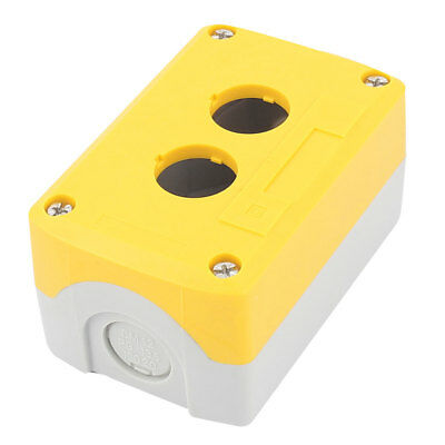 Waterproof 2 Button 22mm Dia. Hole Sealed Push Button Switch Control Station Box