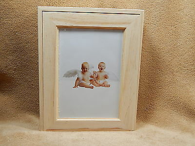 Unfinished Wood Wooden Pine Box with Picture Frame Holds 5x7 Picture