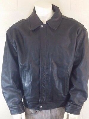 Retro Mens L Nothing Else Is A Pepsi Black Leather Jacket With Lining