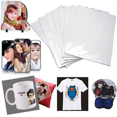 10pcs A4 T-Shirt Cup Photo Iron-On Inkjet Print Heat Transfer Paper 21*29.7cm